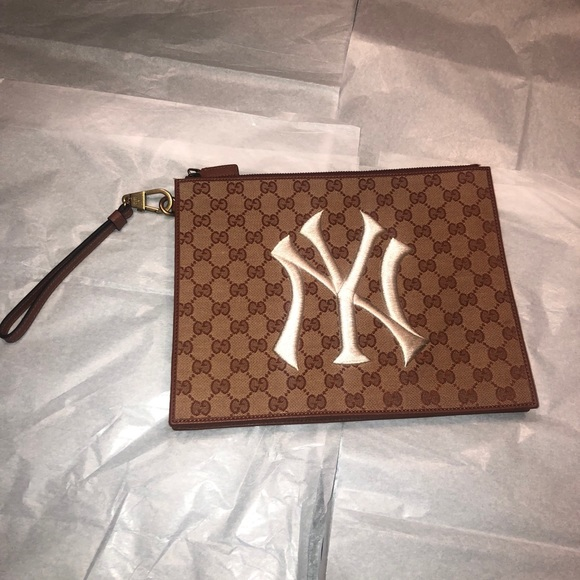 2a13f8986605 Gucci Bags   Pouch With Ny Yankees Patch   Poshmark